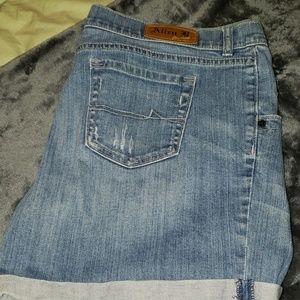 Allen B.jean shorts 16